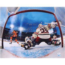 "Brayden Schenn Signed Flyers 16x20 Photo Inscribed ""1st NHL Goal"" (JSA COA)"