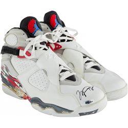 Michael Jordan Signed Game Worn 1992-93 Nike Air Jordans (UDA COA, PSA LOA  Bulls LOA)