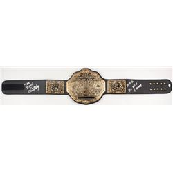Steve  Sting  Borden Signed WCW Heavyweight Championship Belt Inscribed  The Icon ,  HOF 16    6x WC