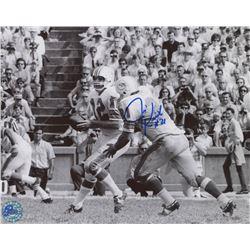 Jim Kiick Signed Dolphins 8x10 Photo (Pro Player Hologram)