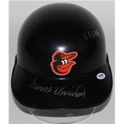 "Frank Robinson Signed Orioles Throwback Full-Size On-Field Helmet Inscribed ""586 HR"" (PSA COA)"