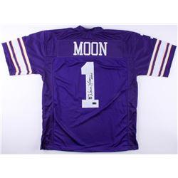 """Warren Moon Signed Vikings Jersey Inscribed """"HOF 06"""" (Radkte COA  Moon Hologram)"""
