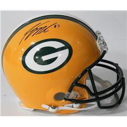 Jordy Nelson Signed Packers Authentic On-Field Full-Size Helmet (Beckett COA)