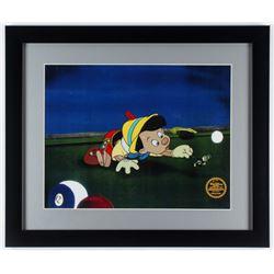 """Pinocchio"" LE 16x19 Custom Framed Animation Serigraph Cel"