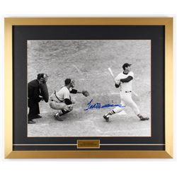 """Ted Williams Signed Red Sox """"Last Home Run At-Bat"""" 21x25 Custom Framed Photo Display (Ted Williams C"""