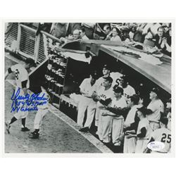 Dusty Rhodes Signed Giants 8x10 Photo Inscribed  1954 WS MVP    NY Giants  (JSA COA)