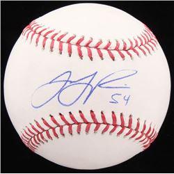 T. J. Rivera Signed OML Baseball (Beckett COA)