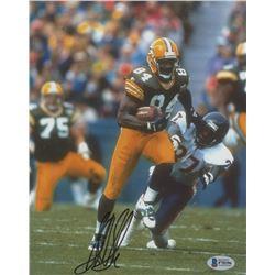 Sterling Sharpe Signed Packers 8x10 Photo (Beckett COA)