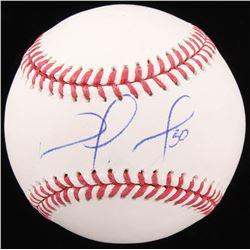 Nomar Mazara Signed OML Baseball (Beckett COA)
