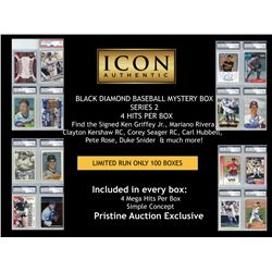 BLACK DIAMOND BASEBALL MYSTERY BOX SERIES 2 - 4 HITS PER BOX