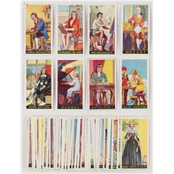 """1936 Godfrey Phillips """"Famous Minors"""" Complete Set of (50) Cards with George Washington, Michelangel"""