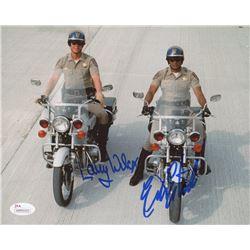 "Eric Estrada  Larry Wilcox Signed ""CHIPs"" 8x10 Photo (JSA COA)"
