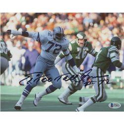 """Ed """"Too Tall"""" Jones Signed Cowboys 8x10 Photo (Beckett COA)"""