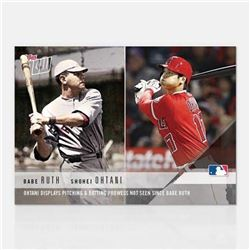 2018 Topps Now Moment of the Week #MOW1 Babe Ruth / Shohei Ohtani RC 17,750