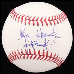 """Ken Harrelson Signed OML Baseball Inscribed """"Hawk"""" (Beckett COA)"""