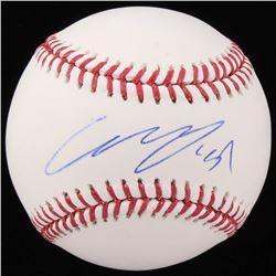 Gio Urshela Signed OML Baseball (Beckett COA)