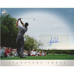 Tiger Woods Signed 8x10 2004 Upper Deck SP Signature Shots Autograph Golf Photo Card (UDA COA)