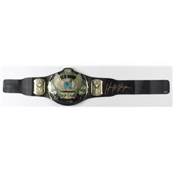 Hulk Hogan Signed World Heavyweight Championship Belt (Schwartz COA)