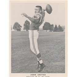 "Johnny Unitas Signed Colts 8x10 Photo Inscribed ""Best Wishes"" (JSA COA)"