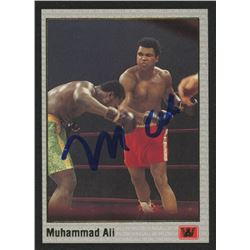 Muhammad Ali Signed 1991 All World Promo #NNO Muhammad Ali / Unser Jr. (JSA LOA)