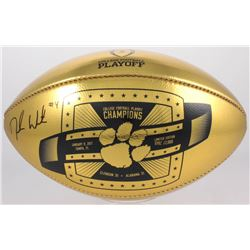 Deshaun Watson Signed LE 2017 National Championship Clemson Tigers Gold Leather Football (PSA COA)