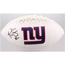 Phill Simms Signed Giants Logo Football (JSA COA)