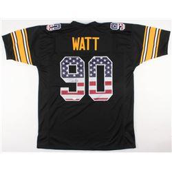 """T. J. Watt Signed Steelers """"USA Flag"""" Jersey (TSE COA)"""
