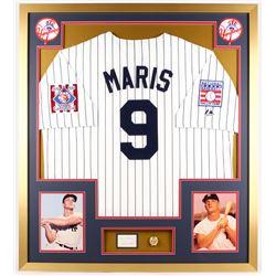 "Roger Maris Signed Yankees 32x36 Custom Framed Cut Display Inscribed ""Best Always"" (PSA LOA)"
