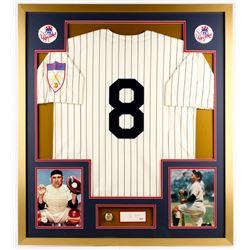Yogi Berra Signed Yankees 32x36 Custom Framed Cut Display (PSA COA)