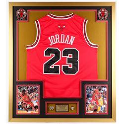 Michael Jordan Bulls 32x36 Custom Framed Jersey Display