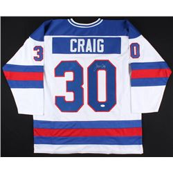 Jim Craig Signed Team USA Jersey (JSA COA)