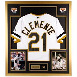 Roberto Clemente Pirates 32x36 Custom Framed Jersey Display
