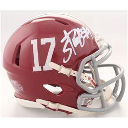 Bo Scarbrough Signed Alabama Crimson Tide Speed Mini-Helmet (Scarbrough Hologram)