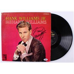 "Hank Williams Jr. Signed ""Hank Williams Jr. Sings the Songs of Hank Williams"" Vinyl Record Album (PS"