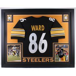 Hines Ward Signed Steelers 35x43 Custom Framed Jersey (JSA COA)