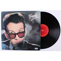 """Elvis Costello Signed """"Trust"""" Vinyl Record Album (PSA COA)"""