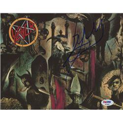 "Dave Lombardo Signed ""Slayer"" 8x10 Photo (PSA COA)"