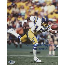 """Charlie Joiner Signed Chargers 8x10 Photo Inscribed """"HOF 96"""" (Beckett COA)"""