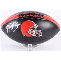 Jabrill Peppers Signed Browns Logo Football (JSA COA)