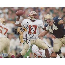 Charlie Ward Signed Florida State Seminoles 8x10 Photo Inscribed  Go Noles!  (Beckett COA)