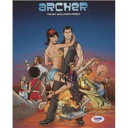 "H. Jon Benjamin Signed ""Archer"" 8x10 Photo (PSA COA)"
