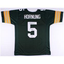 """Paul Hornung Signed Packers Jersey Inscribed """"HOF 86"""" (Schwartz COA)"""