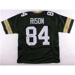 """Andre Rison Signed Packers Jersey Inscribed """"SB XXXI Champs"""" (Schwartz COA)"""