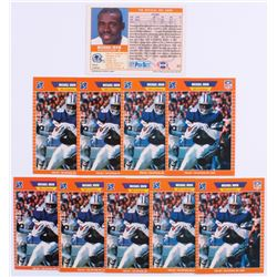 Lot of (10) 1989 Pro Set #89 Michael Irvin RC Football Cards