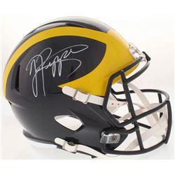 Jabrill Peppers Signed Michigan Wolverines Full-Size Speed Helmet (JSA COA)
