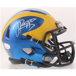 Jabrill Peppers Signed Michigan Wolverines Chrome Mini Speed Helmet (JSA COA)