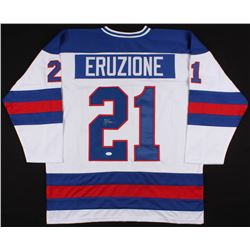 """Mike Eruzione Signed 1980 Team USA """"Miracle on Ice"""" Captains Jersey (JSA COA)"""
