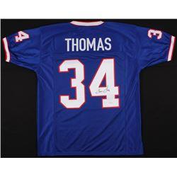 Thurman Thomas Signed Bills Jersey (JSA COA)