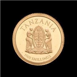 2014 Tanzania 1500 Shillings John XXIII / John Paul II Canonization 1/2 Gram .9999 Fine Gold Coin