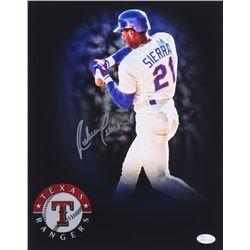 Ruben Sierra Signed Rangers 11x14 Photo (JSA COA)